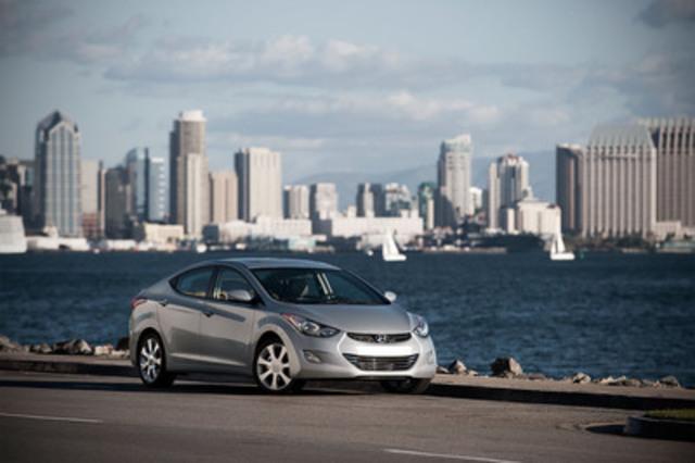 L'Elantra 2012 de Hyundai a été nommée Voiture nord-américaine de l'année. (Groupe CNW/Hyundai Auto Canada Corp.)
