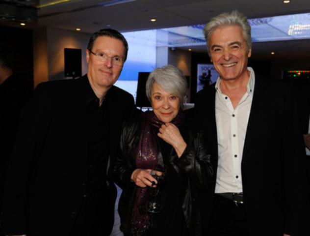 SOCAN CEO Eric Baptiste (left) with Lifetime Achievement Award recipient Louise Forestier and her friend and megastar Daniel Lavoie at the 2013 SOCAN Awards Gala at the Hyatt Regency Hotel on November 26th. (CNW Group/SOCAN)