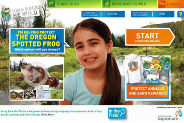 Earth Rangers' Oregon spotted frog project (CNW Group/Earth Rangers)