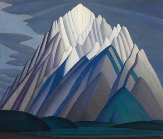 Mountain Forms, remarquable toile de Lawren Harris, a trouvé preneur pour 11210000 $, établissant ainsi un nouveau record pour une œuvre canadienne vendue aux enchères et une nouvelle marque mondiale pour l'artiste. (Groupe CNW/Heffel Gallery Limited)