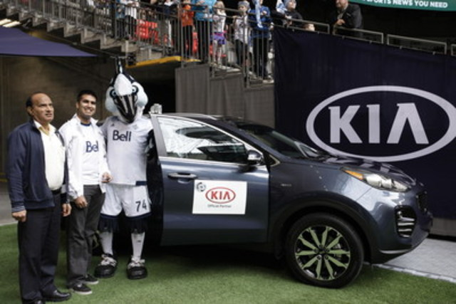 Kia Canada Inc. demonstrated the brand's power to surprise by rewarding Vancouver resident and loyal Whitecaps FC fan, Nitin Gaba, with a one year lease on a brand new 2017 Kia Sportage (CNW Group/KIA Canada Inc.)