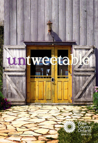 Wine Country Ontario 'untweetable' Campaign - Winery Entrance - Closson Chase, Prince Edward County (CNW Group/Wine Council of Ontario)