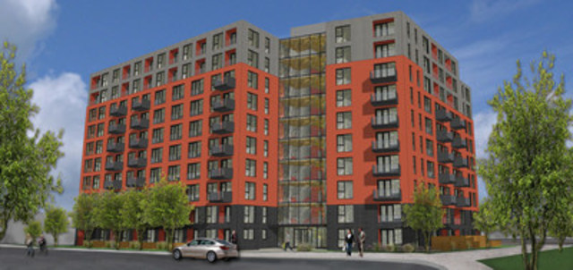 Le Namur, un projet résidentiel locatif du Fonds immobilier de solidarité FTQ et des Habitations Trigone (crédit : Habitations Trigone) (Groupe CNW/Fonds immobilier de solidarité FTQ)