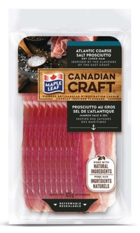 Maple Leaf Canadian Craft Atlantic Course Salt Prosciutto (CNW Group/Maple Leaf Foods Inc.)