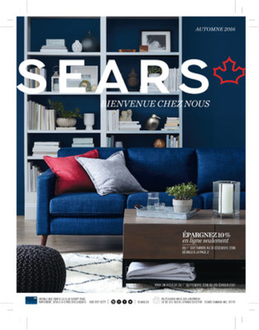 Page couverture de la section maison du catalogue Automne 2016 de Sears Canada (Groupe CNW/Sears Canada Inc.)