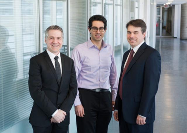 De gauche à droite : Philippe Babin, Président, Aeponyx Inc., Frédéric Nabki et Michaël Ménard, professeurs au Département d'informatique de la Faculté des sciences de l'UQAM (Groupe CNW/UQAM)