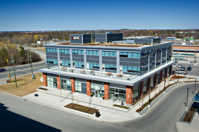 BDC?s Markham, ON, business centre receives LEED Gold certification for commercial interiors. (CNW Group/Business Development Bank of Canada)