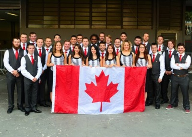 WorldSkills Team Canada 2015 arrives at the Ibirapuera Gymnasium in São Paulo for the WorldSkills 2015 Closing Ceremonies on August 16th. (CNW Group/Skills/Compétences Canada)