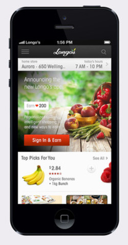 New Longo's app to enhance and personalize the in-store shopping experience (CNW Group/Longo's)