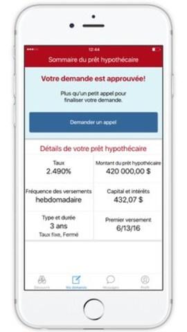 Grâce à l'appli Allô Proprio CIBC(MC), recevez l'approbation de votre prêt hypothécaire en quelques clics sur votre téléphone intelligent (Groupe CNW/Banque CIBC)
