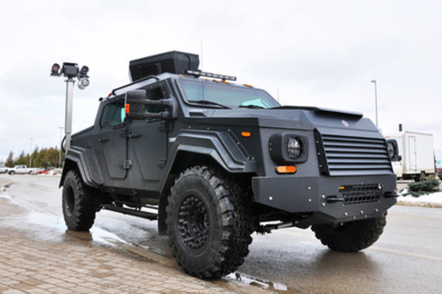 The signature product from Terradyne Armored Vehicles is the GURKHA, a tactical vehicle typically used by law enforcement and military forces. The GURKHA RPV seen here is an ideal solution for Bruce Power's security needs and the company is adding several of these vehicles to its Emergency and Protective Services fleet. (CNW Group/Terradyne Armored Vehicles Inc.)