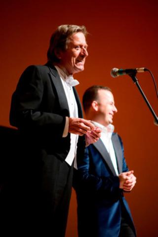 Albert Millaire et Yannick Nézet-Séguin (Groupe CNW/Conservatoire de musique et d'art dramatique du Québec)