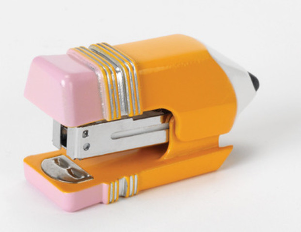 "Staples® Mini Stapler is a fun and functional stapler shaped like a pencil - iconic for back to school."" (CNW Group/Staples Canada Inc.)"