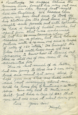 Lettre du sergent McCaughey, MCG 20140022-002_06-09-44_p1-4, Collection d'archives George-Metcalf, ...