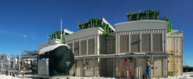 FIRST THREE OF FIVE GENERATION UNITS FOR GENALTA POWER'S PEACE RIVER POWER CENTRE (CNW Group/Genalta Power Inc.)