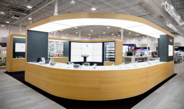 "Best Buy Mississauga hosts Google's first ""shop within a shop"" in North America (CNW Group/Best Buy Canada)"