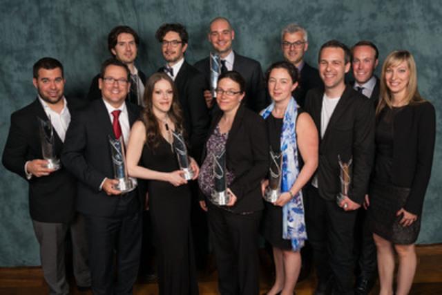 Les lauréats de la 37e édition du Concours provincial ARISTA (Groupe CNW/Jeune Chambre de commerce de Montréal)