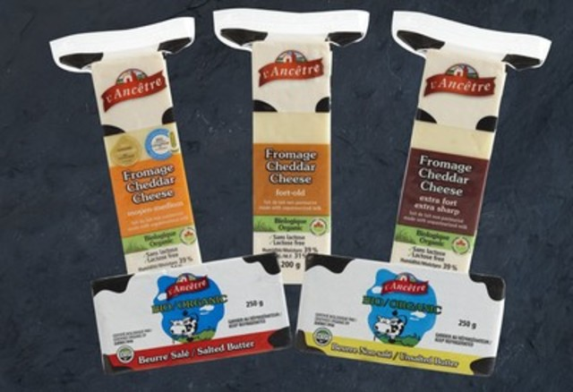 A selection of the award winning products from L'Ancêtre Cheese Factory (CNW Group/L'Ancêtre Cheese Factory)