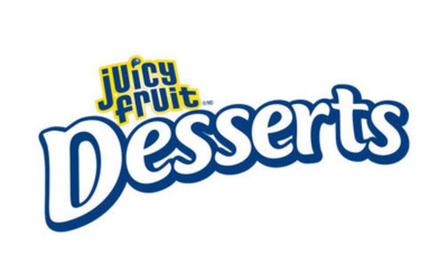 Logo de la gomme sans sucre Desserts de Juicy Fruit (Groupe CNW/Wrigley Canada)