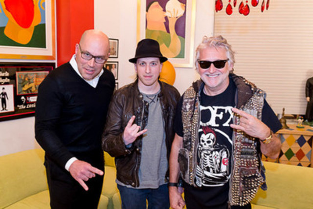 Amnesia Rockfest in Montebello, QC, the largest rock festival in Canada, has signed a partnership agreement with the Just for Laughs Group and La Tribu. Claude Larivée,(La Tribu), Alex Martel (Amnesia Rockfest) and Gilbert Rozon (Just for Laughs Group) and are now the new partners behind Rockfest. Photo Credit: Vivien Gaumand (CNW Group/Amnesia Rockfest)
