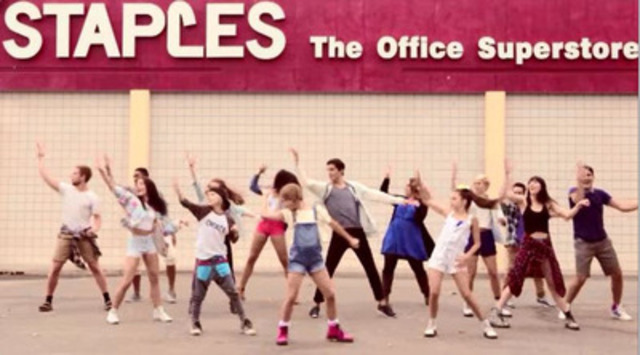 Fans can bust a move and do their shopping cart dance for a chance to appear in Staples' Back-To-School TV commercial