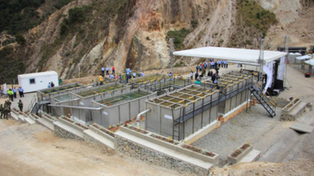 Figure 1: Eco Oro's new wastewater treatment plant providing integrated management of industrial wastewater (CNW Group/Eco Oro Minerals Corp.)