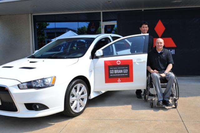 Brian Donato, Kenny Yamamoto et la Mitsubishi Lancer Ralliart destinés à la Targa de Terre-Neuve 2014 (Groupe CNW/Mitsubishi Motor Sales of Canada, Inc.)