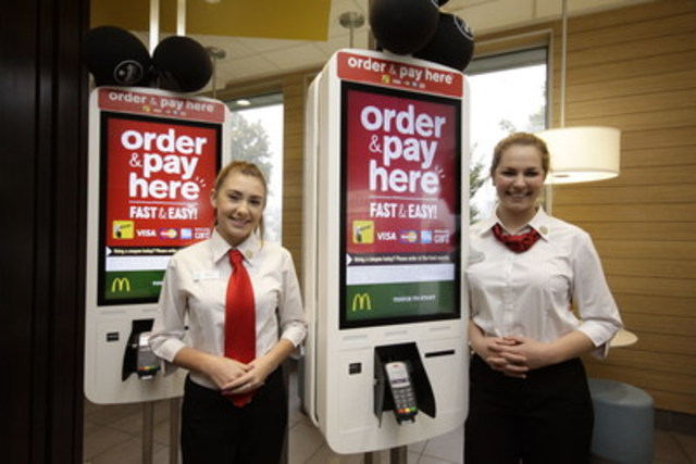 McDonald's® Canada announced the introduction of its Restaurant Experience of the Future to Manitoba, which includes the new Create Your Taste custom burger system, self-order kiosks, table delivery service and assistance from Guest Experience Leaders (as shown). The 29 participating restaurants across the province will be hiring as many as 435 crew members to fill these new positions. (CNW Group/McDonald's Canada)