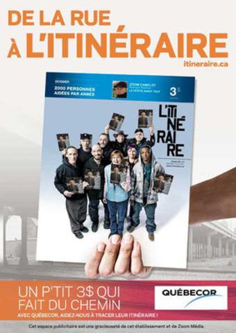 Une des affiches de la campagne INSPIRANTE (Groupe CNW/Groupe L'Itinéraire)