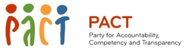PACT - Party for Accountability, Competency and Transparency (CNW Group/Party for Accountability, Competency and Transparency)