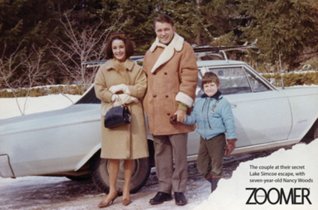 Liz Taylor and Richard Burton, Winter 1964. Exclusive new details of their secret Canadian getaway revealed in Zoomer's June issue. On newsstands May 21st. www.everythingzoomer.com Photo courtesy of the Woods family (CNW Group/Zoomer Magazine)