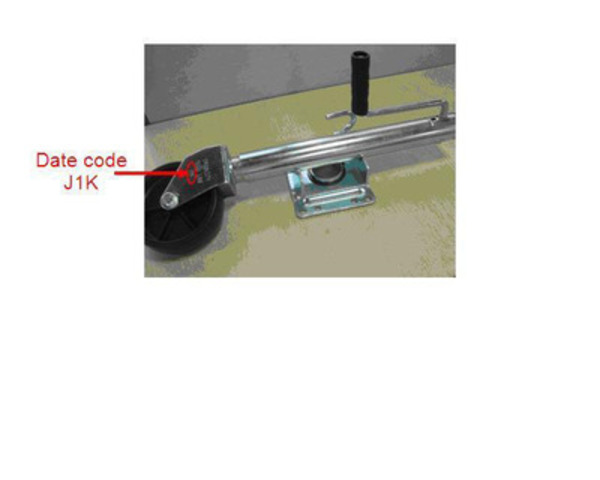 J1K coded batch of 1000lb Swivel Jack (CNW Group/CANADIAN TIRE CORPORATION, LIMITED) (CNW Group/Canadian Tire Corporation, Limited)