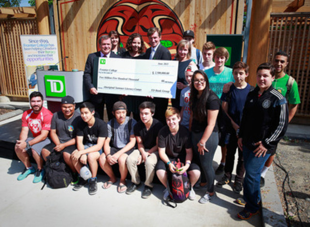 TD made a $2.5 million donation to Frontier College on Monday in Vancouver to help the organization expand its Aboriginal Summer Literacy Camps program. The gift announcement was made by Frank McKenna, Deputy Chair, TD Bank Group and Wayne Gretzky, TD's Brand Ambassador. (CNW Group/TD Bank Group)
