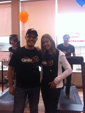 Ben K7 et Isabelle Huot, ambassadeurs du Défi Cardio 25 heures (Groupe CNW/Energie Cardio)