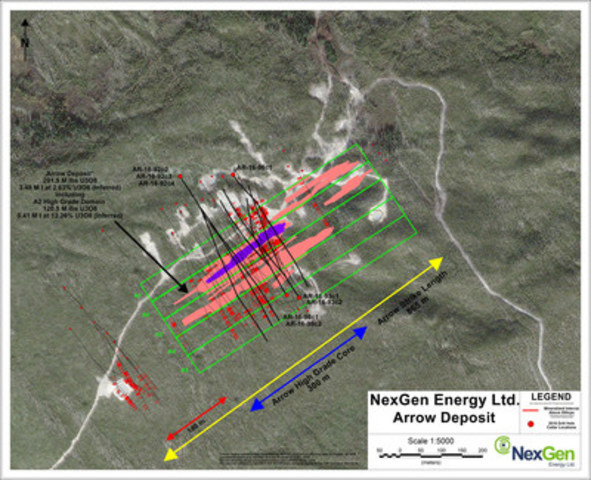 Figure 1: Arrow Deposit Drill Hole Location (CNW Group/NexGen Energy Ltd.)