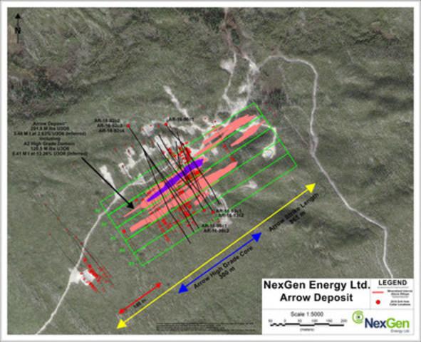 Figure 1: Arrow Deposit Drill Hole Location (CNW Group/NexGen Energy Ltd.)