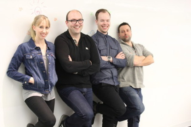 From left: Laura Zechel, Justin Gaul, Shane McKenna and Dimitri Bariamis (CNW Group/Apex Public Relations)