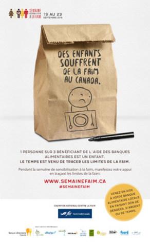 Semaine de sensibilisation à la faim – « Tracez les limites de la faim » (Groupe CNW/Banques alimentaires Canada)