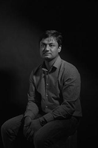 Raihan Abir is the PEN Canada/Ken Filkow Prize recipient. Photo: Chris Thomaidis. (CNW Group/PEN Canada)