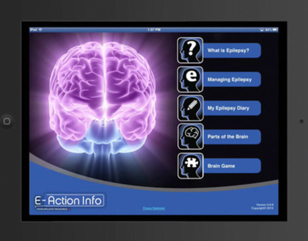 Video: E-Action™ Info, an App for iPhones, iPads and iPod Touch is designed to educate people living with epilepsy and all Canadians, is now available from the App Store.