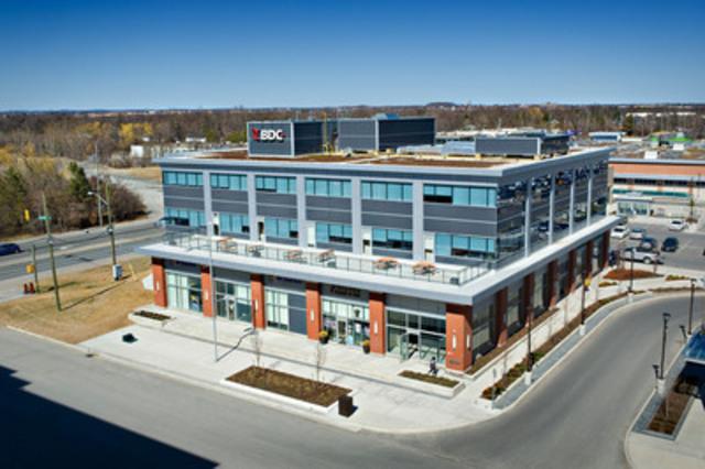 BDC obtient la certification LEED Or pour son centre d''affaires de Markham (Ontario) (Groupe CNW/Banque de développement du Canada)