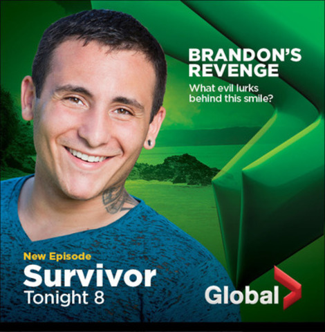 GLOBAL GETS FRESH! Bold New Look Launches Today: Survivor Print Ad (CNW Group/Global Television)