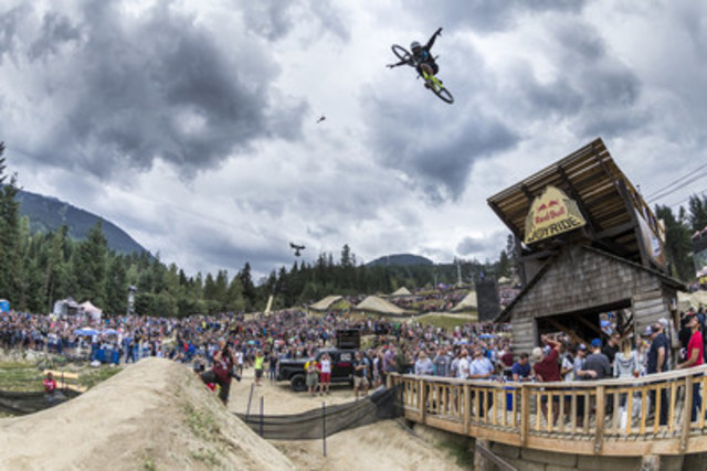 Brett Rheeder winning run at Red Bull Joyride 2016 in Whistler, BC. Credit: Jussi Grznar/Red Bull Content Pool (CNW Group/Red Bull Canada)