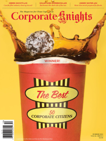 The Summer 2015 issue of Corporate Knights features our annual Best 50 Corporate Citizens in Canada ranking, and special reports on solar energy and city resilience. Also find profiles of Canada's Greenest Chief Executive and Canada's Greenest Mayor. (CNW Group/Corporate Knights Inc.)