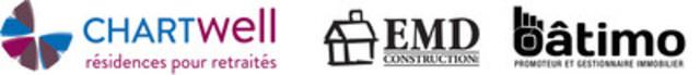 Chartwell, résidences pour retraités et Bâtimo EMD (Groupe CNW/Chartwell, résidences pour retraités)