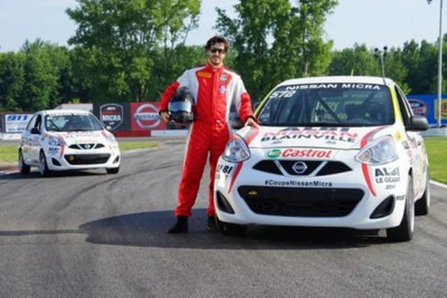 Antoine Bessette, récipiendaire du Trophée Gilles-Villeneuve et du Canadian Champion Race Driver Award en 2005 (Groupe CNW/Nissan Canada Inc.)