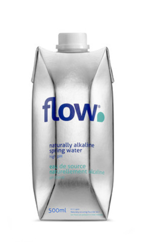 Flow, Canada?'s first social water company, offers an environmentally friendly and healthier alternative to plastic bottled water, with the added benefits of drinking naturally alkaline spring water. (CNW Group/Flow)