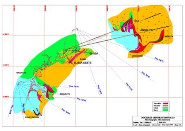 Figure 2 – Plan view Cachi Cachi Zone (CNW Group/Sierra Metals Inc.)