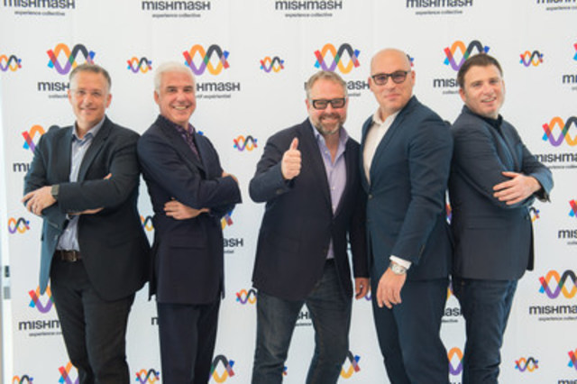 From left to right: Éric Albert, Vice President Investments, XPND Capital; Pierre Dufour, General Manager, Productions Opéra MP; Alexandre Taillefer, Managing Partner, XPND Capital; Claude Larivée, President, La Tribu; Pascal Lefebvre, President, Groupe Piknic Électronik. (CNW Group/XPND)