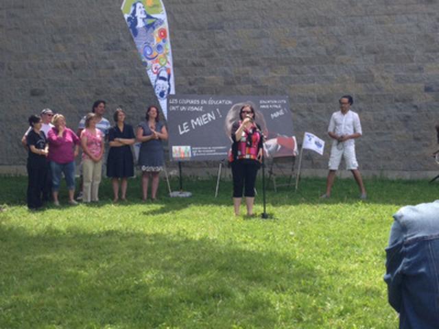 La Fédération des comités de parents du Québec (FCPQ) exige du gouvernement qu'il mette fin aux compressions en éducation (Groupe CNW/Fédération des comités de parents du Québec (FCPQ))
